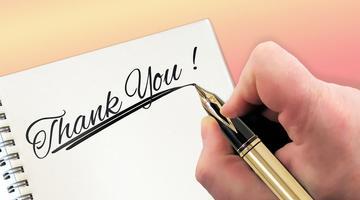 Dopo il relax, non scordate i ringraziamenti