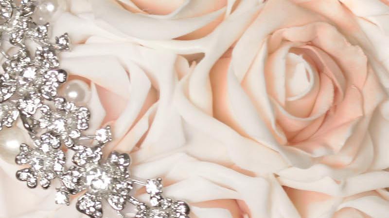 Bouquet gioiello per un matrimonio da principessa